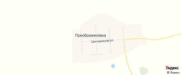Карта села Преображеновки в Амурской области с улицами и номерами домов