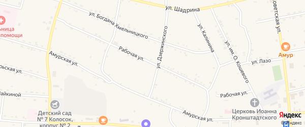 Рабочая улица на карте села Поярково с номерами домов