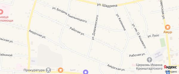 Рабочая улица на карте станции Воскресеновки с номерами домов