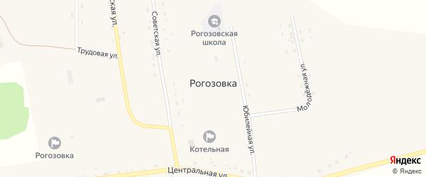 Октябрьская улица на карте села Рогозовки с номерами домов