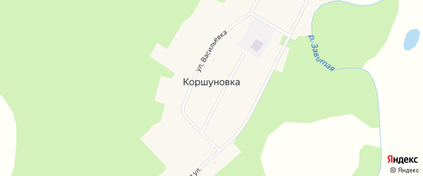 Улица Специалистов на карте села Коршуновки с номерами домов