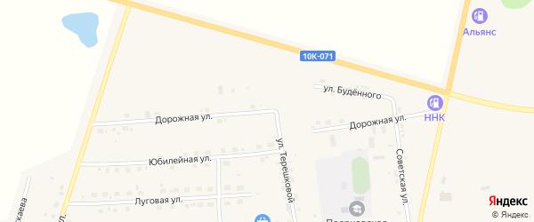Дорожная улица на карте села Поярково с номерами домов