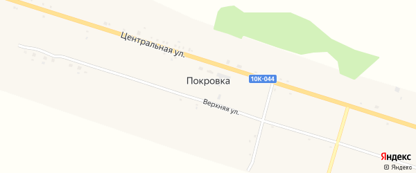 Верхняя улица на карте села Покровки с номерами домов