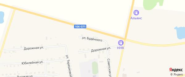 Улица Буденного на карте села Поярково с номерами домов