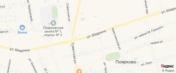 Улица Шадрина на карте села Поярково с номерами домов