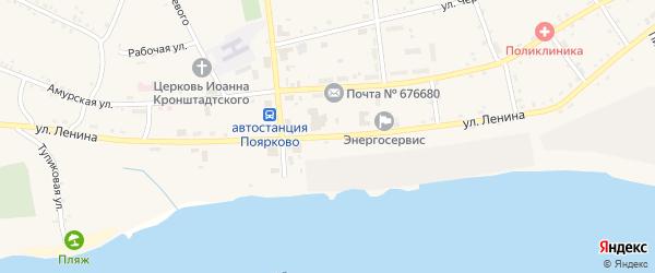 Улица Ленина на карте села Поярково с номерами домов