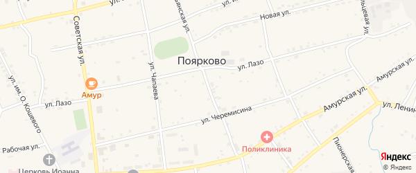 Крестьянская улица на карте села Поярково с номерами домов