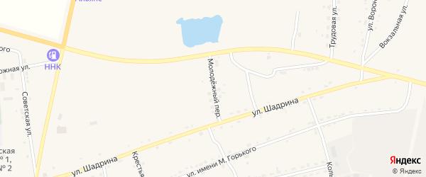 Молодёжный переулок на карте села Поярково с номерами домов