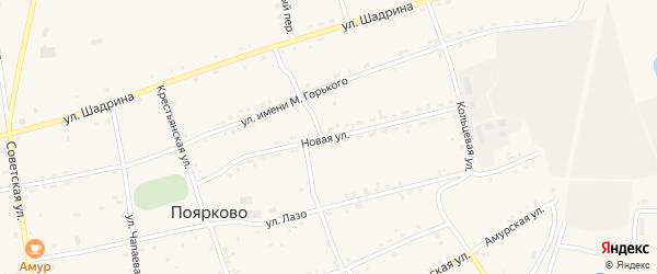 Новая улица на карте села Поярково с номерами домов