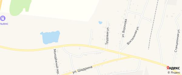 Сосновая улица на карте села Поярково с номерами домов