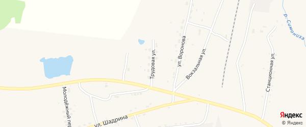 Трудовая улица на карте села Поярково с номерами домов