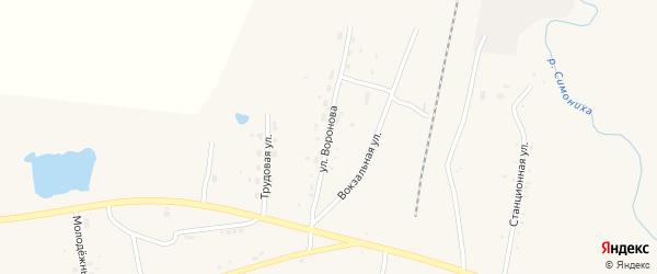 Улица Воронова на карте села Поярково с номерами домов