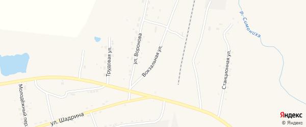 Вокзальная улица на карте села Поярково с номерами домов