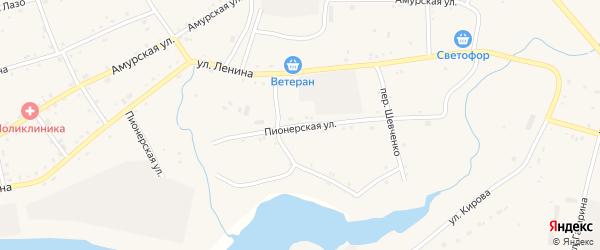Пионерская улица на карте села Поярково с номерами домов