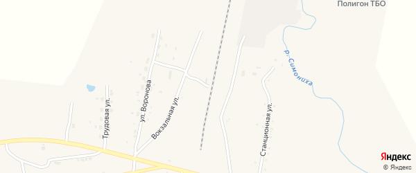 Станционная улица на карте села Поярково с номерами домов