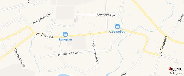Улица Шевченко на карте села Поярково с номерами домов