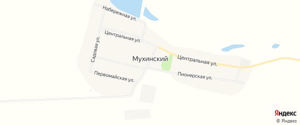 Карта Мухинского поселка в Амурской области с улицами и номерами домов