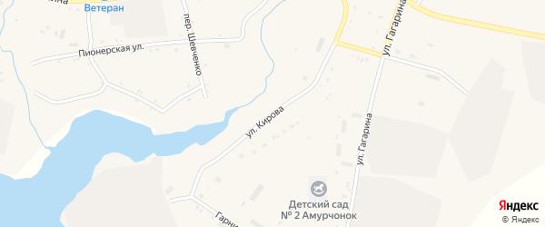 Улица Кирова на карте села Поярково с номерами домов