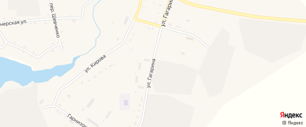 Улица Гагарина на карте села Поярково с номерами домов
