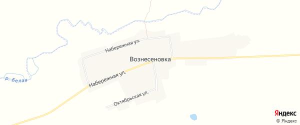 Карта села Вознесеновки в Амурской области с улицами и номерами домов