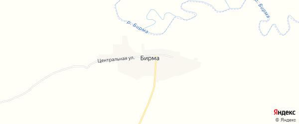 Карта села Бирмы в Амурской области с улицами и номерами домов