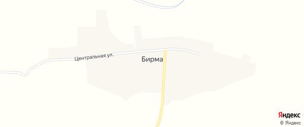 Новая улица на карте села Бирмы с номерами домов