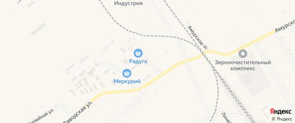 Центральная улица на карте села Возжаевки с номерами домов