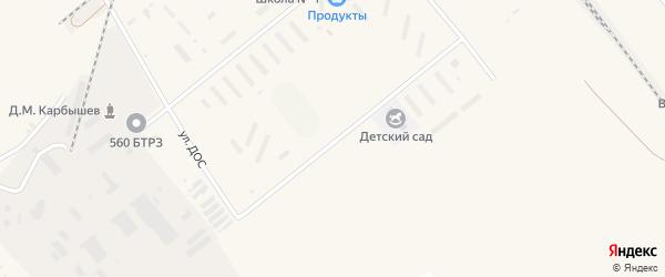 Улица ДОС на карте села Возжаевки с номерами домов