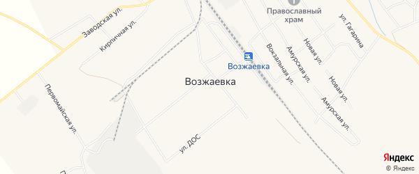 Карта села Возжаевки в Амурской области с улицами и номерами домов