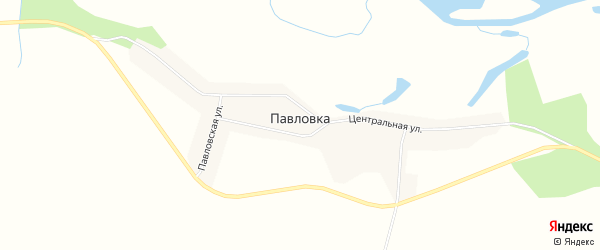 Карта села Павловки в Амурской области с улицами и номерами домов