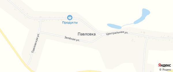 Павловская улица на карте села Павловки с номерами домов
