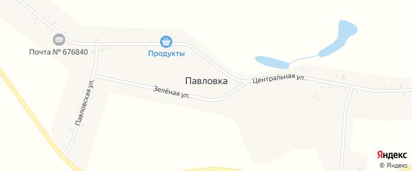 Центральная улица на карте села Павловки с номерами домов