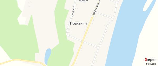 Набережная улица на карте села Практичи с номерами домов