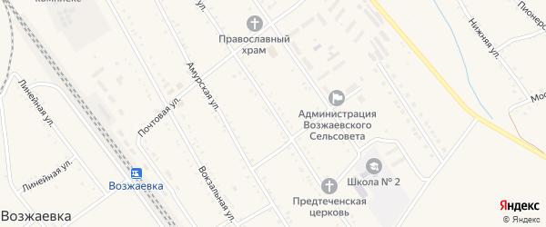 Новая улица на карте села Возжаевки с номерами домов