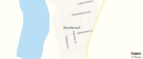 Светлая улица на карте Заозерного села с номерами домов
