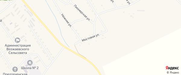 Мостовая улица на карте Амурского села с номерами домов
