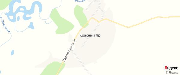 Карта села Красного Яра в Амурской области с улицами и номерами домов