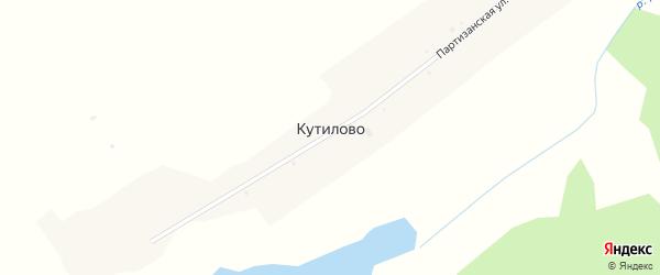 Партизанская улица на карте села Кутилово с номерами домов