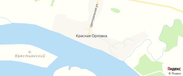 Карта села Красной Орловки в Амурской области с улицами и номерами домов