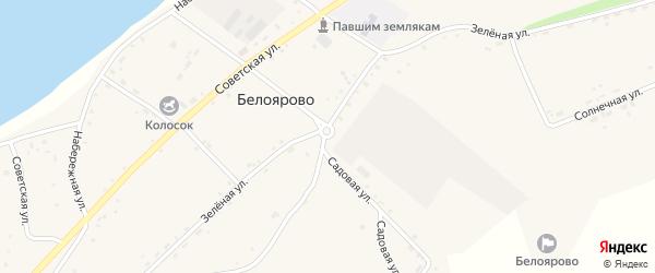 Зеленая улица на карте села Белоярово с номерами домов