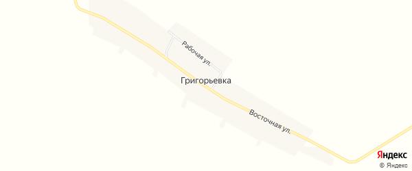 Карта села Григорьевки в Амурской области с улицами и номерами домов