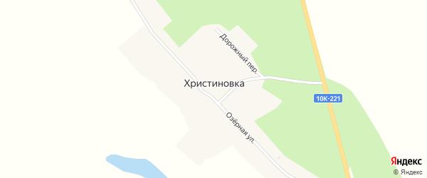Дорожный переулок на карте села Христиновки с номерами домов
