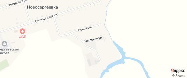 Трудовая улица на карте села Новосергеевки с номерами домов