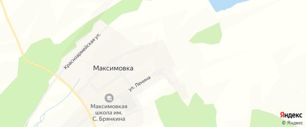 Карта села Максимовки в Амурской области с улицами и номерами домов