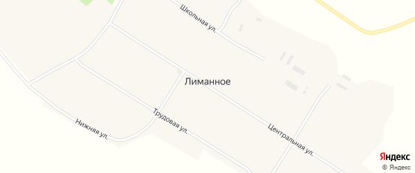 Школьная улица на карте Лиманного села с номерами домов