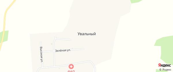 Центральная улица на карте Увального поселка с номерами домов