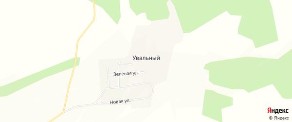 Карта Увального поселка в Амурской области с улицами и номерами домов