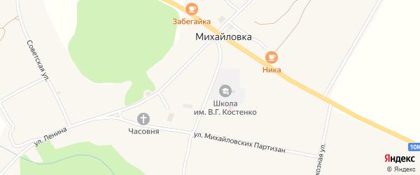 Школьный переулок на карте села Михайловки с номерами домов