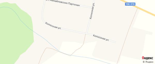Колхозная улица на карте села Михайловки с номерами домов