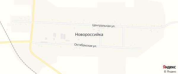 Октябрьская улица на карте села Новороссийка с номерами домов
